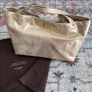 Kate Spade gold leather handbag